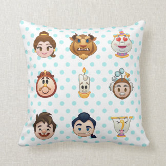 Beauty and the Beast Emoji   Characters Throw Pillow