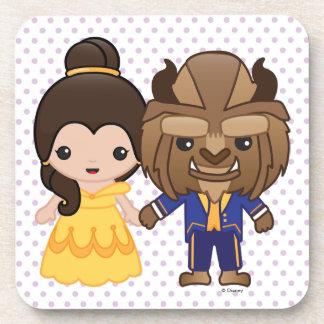 Beauty and the Beast Emoji Coaster