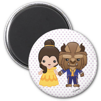 Beauty and the Beast Emoji Magnet