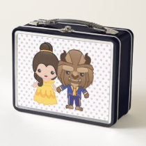 Beauty and the Beast Emoji Metal Lunch Box