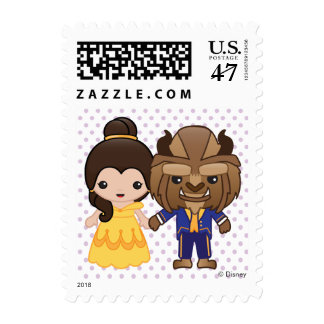 Beauty and the Beast Emoji Postage Stamp