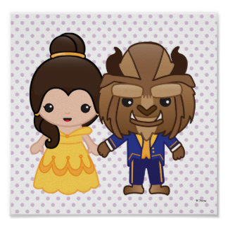 Beauty and the Beast Emoji Poster
