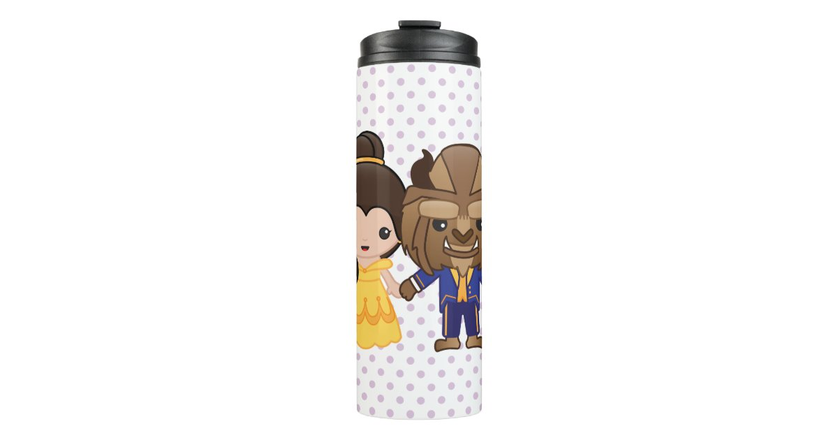 Beauty And The Beast Emoji Thermal Tumbler Zazzle Com