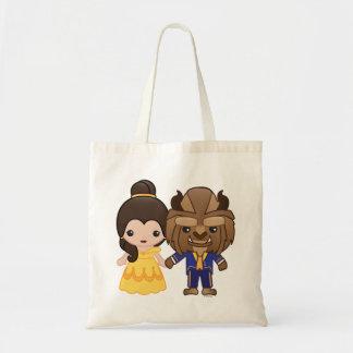 Beauty and the Beast Emoji Tote Bag