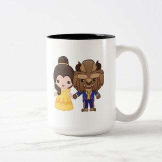 Beauty and the Beast Emoji Two-Tone Coffee Mug