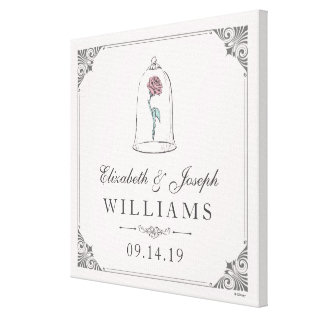 Beauty And The Beast | Enchanted Rose Wedding Canvas Print at Zazzle