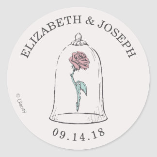 Beauty and the Beast | Enchanted Rose Wedding Classic Round Sticker