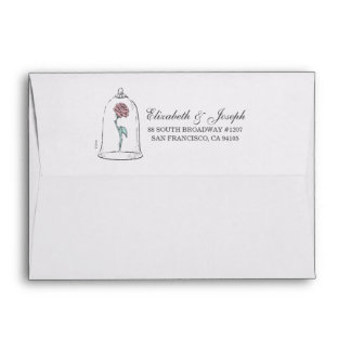 Beauty and the Beast | Enchanted Rose Wedding Envelope