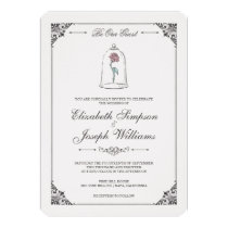 Beauty and the Beast | Enchanted Rose Wedding Invitation