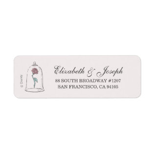 Beauty And The Beast | Enchanted Rose Wedding Label at Zazzle