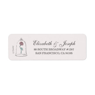 Beauty and the Beast | Enchanted Rose Wedding Label