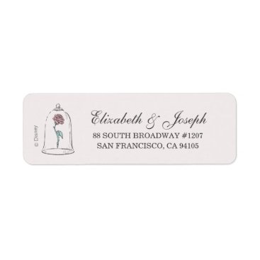 DisneyPrincess Beauty and the Beast | Enchanted Rose Wedding Label