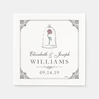 Beauty and the Beast | Enchanted Rose Wedding Paper Napkin
