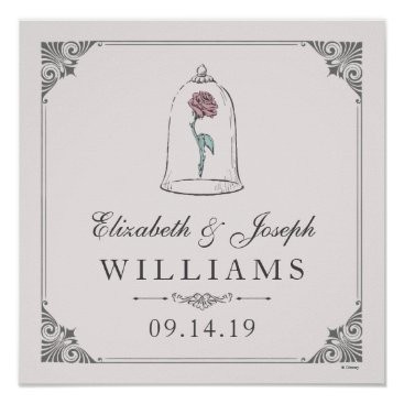 Disney Themed Beauty and the Beast | Enchanted Rose Wedding Poster