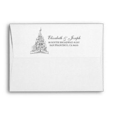 Disney Themed Beauty and the Beast | Fairy Tale Castle Wedding Envelope