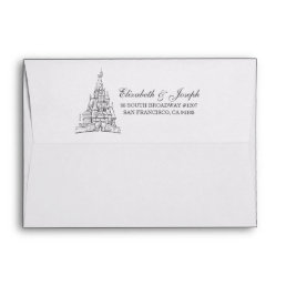 Beauty and the Beast | Fairy Tale Castle Wedding Envelope