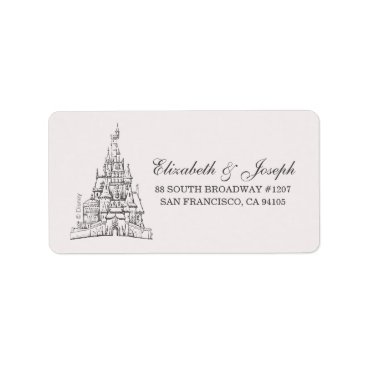 Disney Themed Beauty and the Beast | Fairy Tale Castle Wedding Label