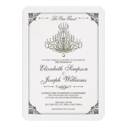Beauty and the Beast | Fairy Tale Chandelier Weddi Card