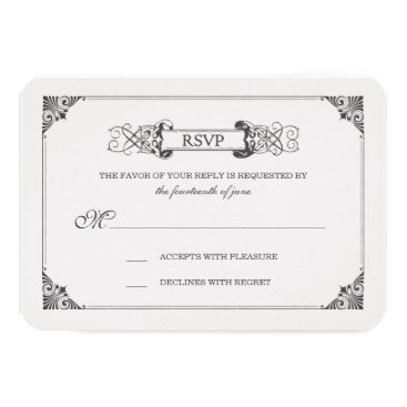 Disney Themed Beauty and the Beast | Fairy Tale - RSVP Card
