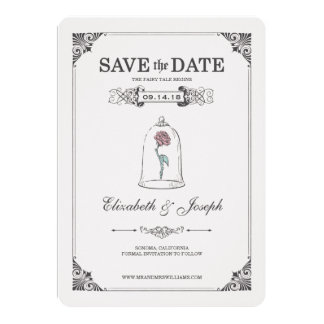 Beauty And The Beast Invitations Announcements Zazzle