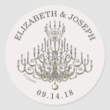 Disney Themed Beauty and the Beast | Fairy Tale Wedding Classic Round Sticker