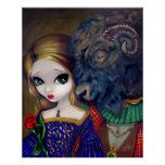 Beauty and the Beast gothic fairy tale Art Print