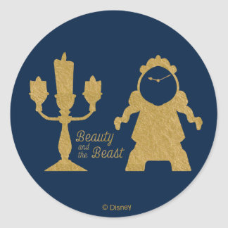 Beauty And The Beast | Lumiere & Cogsworth Classic Round Sticker