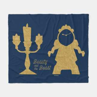 Beauty And The Beast | Lumiere & Cogsworth Fleece Blanket