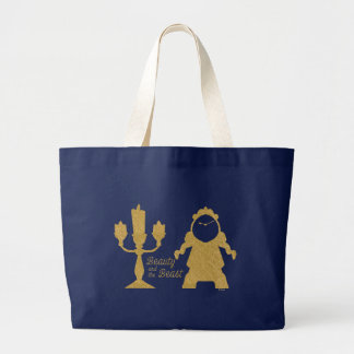 Beauty And The Beast | Lumiere & Cogsworth Large Tote Bag