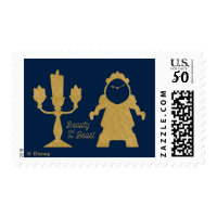 Beauty And The Beast | Lumiere & Cogsworth Postage