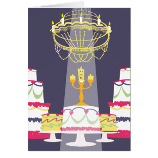 Beauty And The Beast | Lumiere With Cakes Card