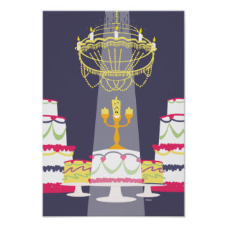 Beauty And The Beast | Lumiere With Cakes Poster