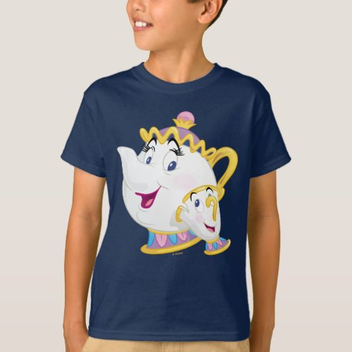 Beauty And The Beast  Mrs Potts And Chip T_Shirt