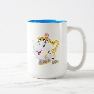 Beauty And The Beast   Mrs. Potts And Chip Two-Tone Coffee Mug