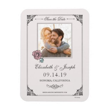 Disney Themed Beauty and the Beast | Photo Save the Date Magnet