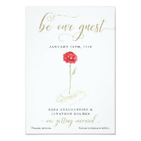Beauty and the Beast Save the Date Announcement