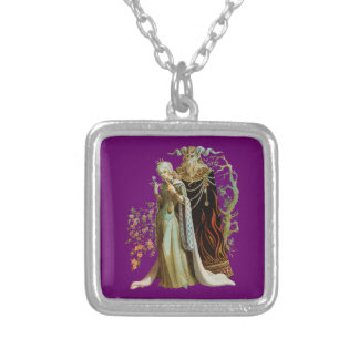 Beauty and the Beast Silver Plated Necklace