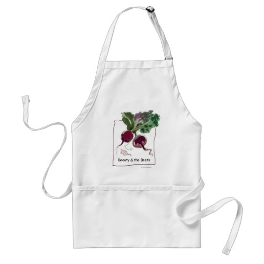 Beauty and the Beets Adult Apron
