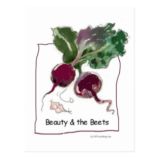 Beauty and the Beets Postcard