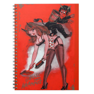 Beauty and the Krampus Vintage Xmas Christmas Notebook