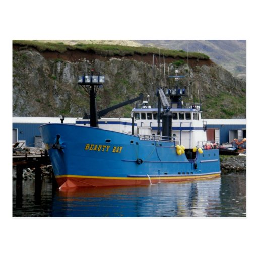 Beauty Bay, Crab Boat in Dutch Harbor, Alaska Post Cards