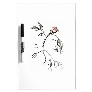 Beauty & Beast Rose Dry-Erase Board