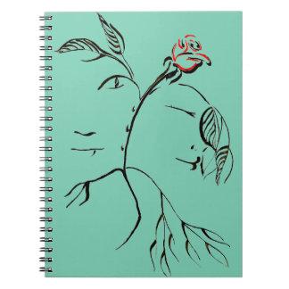 Beauty & Beast Rose Spiral Notebooks