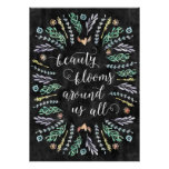 Beauty Blooms | Chalkboard Calligraphy Quote Poster