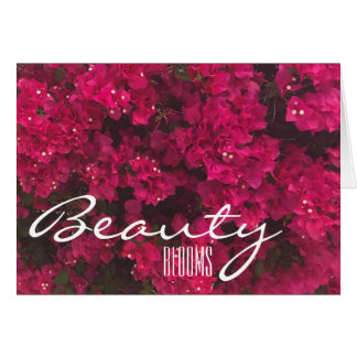 Beauty Blooms notecards Card
