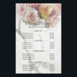 """Beauty Boutique Marble Flower Price List Flyer<br><div class=""""desc"""">Beauty Boutique Marble Flower Price List. This is the new way to advertise yourself or your business. Enter your business name and/or phone number or leave only an image. The same images are available for business cards - be original,  and don&#39;t miss this original advertising opportunity.</div>"""