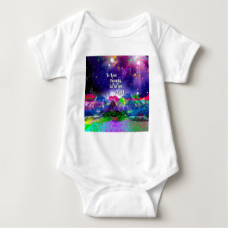 Beauty brings up the light. baby bodysuit