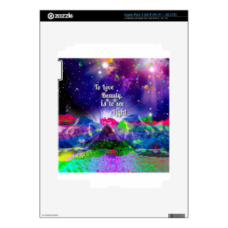Beauty brings up the light. iPad 3 decal