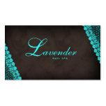 Beauty Business Card Lace Nail Salon Blue