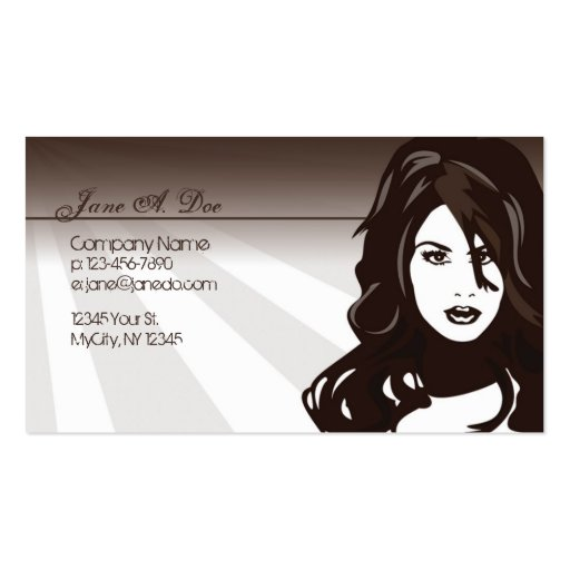 Beauty double sided standard business cards pack of 100 for Beauty business card templates